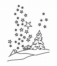 Malvorlagen Sternenhimmel Clear Winter Sky With Million Of Coloring Page