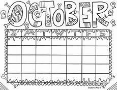 calendar coloring pages 17570 october jpg doodles