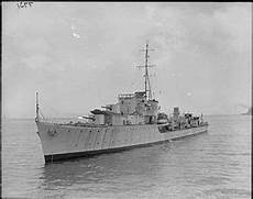 A I Destroyer o and p class destroyer