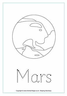 mars planet worksheet mars word tracing