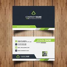 business card template doe professional business card vector free