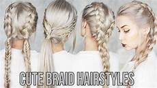 3 cute easy braid hairstyles youtube
