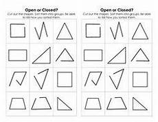 basic addition worksheets with pictures 9606 looking at shapes open or closed shape activities kindergarten shape anchor chart