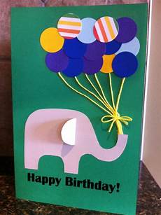 Geburtstag Karte Basteln - paper punch balloon birthday card my kid craft