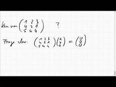 05d 5 kern einer 3x3 matrix mittels vektorprodukt