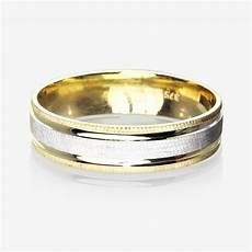 9ct gold 2 colour luxury weight men s wedding ring 5 5mm