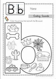 worksheets letter b kindergarten 24348 ending sounds ideias para a sala de aula aulas e atividades