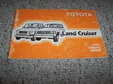 old car owners manuals 2003 toyota land cruiser head up display 1985 toyota land cruiser original owner s owners user manual book ebay