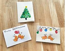weihnachtskarten mit kindern basteln im spagat