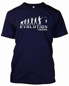 evolution fishing t shirt mens unisex christmas gift angler tackle float ebay