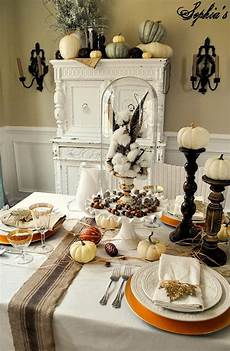 White And Gold Home Decor Ideas by Thanksgiving Home Decor Ideas Festive Atmosphere In Gold
