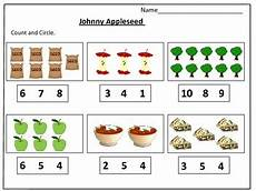 johnny appleseed s counting worksheets 1 20 by kids learning basket