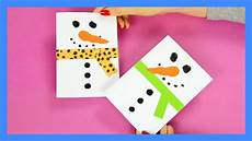 Snowman Card Craft For