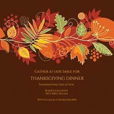festive fall free thanksgiving invitation template