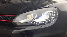 vw golf 6 vi gti gtd look led drl xenon koplen and