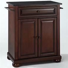 crosley furniture kitchen island crosley furniture alexandria black granite top mahogany