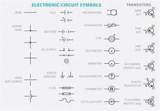 electronic circuit symbol vectors free vectors