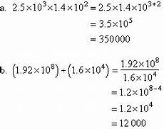 standard form scientific notation