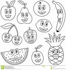 coloring fruit for stock vector image of contour