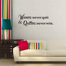 inspirational wall sticker quotes winners never quit motivational quote wall sticker
