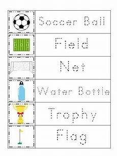 sports worksheets kindergarten 15816 soccer sports themed trace the word preschool educational worksheets