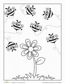 busy bees worksheet education com
