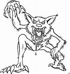 Gratis Malvorlagen Werwolf Werwolf Ausmalbild Malvorlage Phantasie