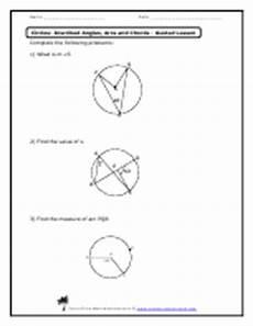 circles inscribed angles arcs and chords worksheets