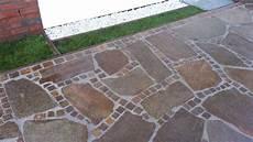 Polygonalplatten Porphyr Rot Braun Naturstein Terrasse