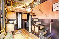 Bamboo Tiny House Tansu Stairs Asiatisch Treppen