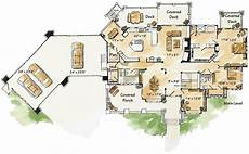 sprawling ranch house plans sprawling 4 bed mountain ranch home plan on a walkout