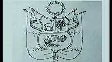 aprende a dibujar f 225 cil el escudo nacional del per 250 youtube