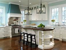 gorgeous white kitchen with light blue walls pictures