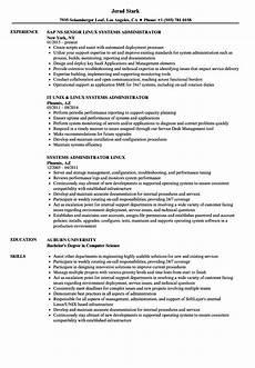 systems administrator linux resume sles velvet