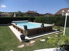 piscine hors sol bois rectangulaire 8x4m piscine discount