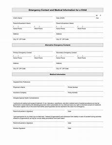printable emergency contact form template emergency contact form student information sheet