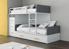 lit superposé lit superpos 233 avec rangements pour enfant fille touch