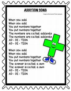 great addition and subtraction songs to help the kids