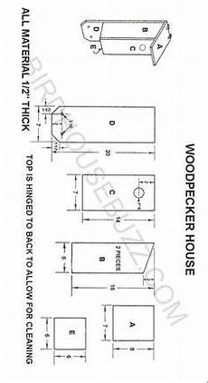 woodpecker bird house plans nestbox plans and dimensions for red bellied woodpecker