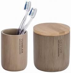 bad accessoires bambus wenko bad accessoire set 187 palo 171 2 teilig bambus otto