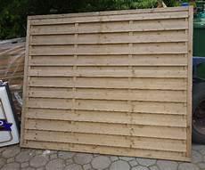 Trennwand Holz Zaun Paravent Garten Ebay