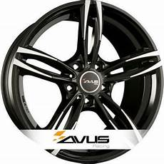 alloy wheels avus ac mb3 black polished n 176 3080