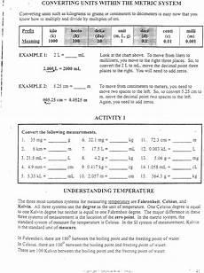 measurement conversion worksheets high school 1458 17 best images of school science worksheets five senses worksheet for grade 1 forensic
