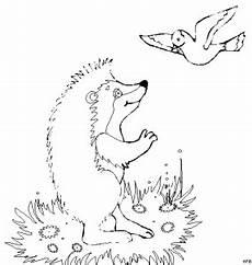 Malvorlagen Igel Java Igel Mit Vogel Ausmalbild Malvorlage Tiere