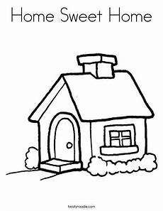 home sweet home coloring page twisty noodle welcome
