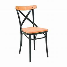 Chaise Bistrot En Metal Assise Bois Naturel Cmg 15291
