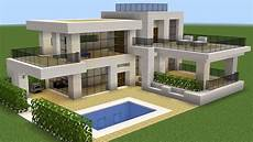 minecraft modern house plans minecraft how to build a modern house 37 youtube