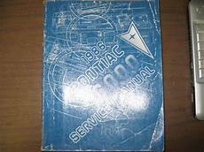 car repair manual download 1986 pontiac grand prix security system 1986 pontiac 6000 gm factory repair service manual ebay