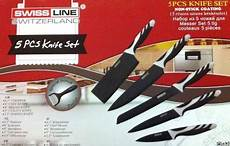 swiss koch kitchen collection swiss line sw col5h non stick coating knife set 5pcs