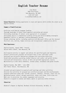 resume sles english teacher resume sle